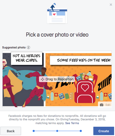 Select a cover photo or video