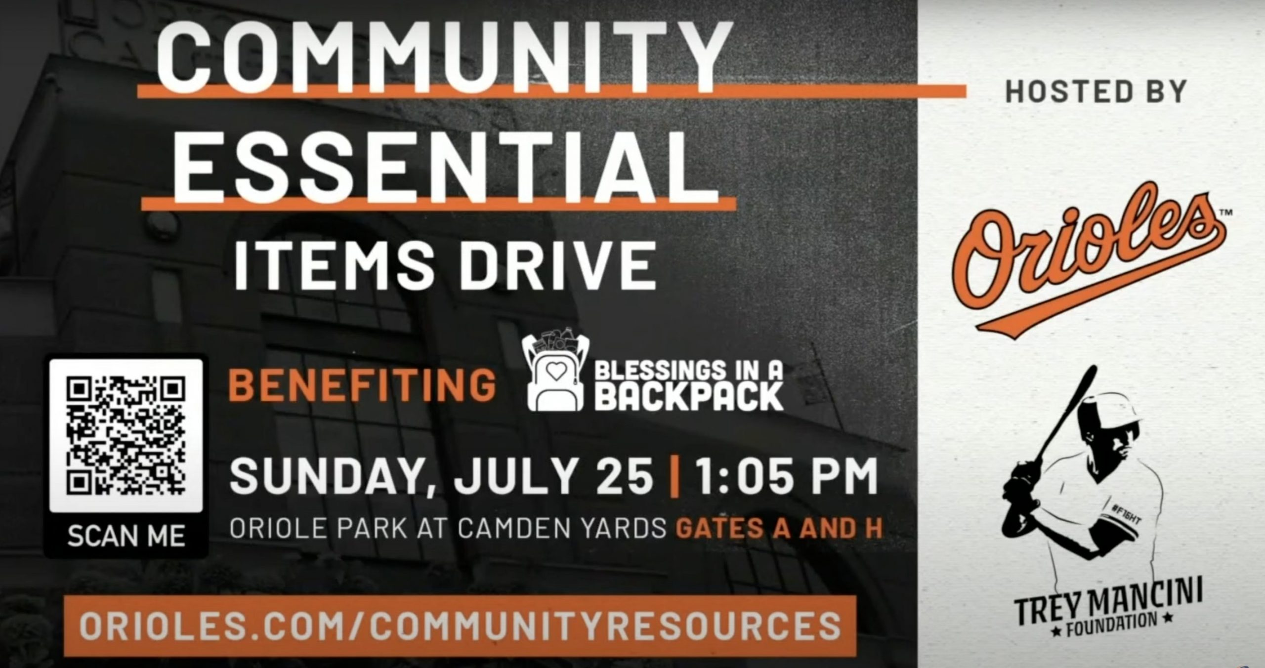 Orioles and Trey Mancini Foundation host Blessings in a Backpack event